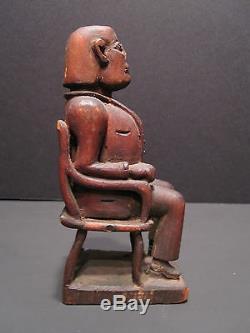 Antique Président American Folk Art Martin Van Buren Early Masterpiece Sculpture