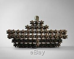 Antique Superbe Art'crown Clochard De L'art Folklorique Panier Sculpté D'épines Du 19ème Siècle Du