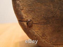 Art Antique Folk Primitif Sculpture Sur Bois Peut-être Artefact Amérindien Décor