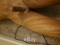 Art Folk Original Ship E Carved Figure De Proue En Bois Unique Et Magnifique