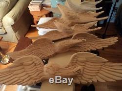Art Folk Traditionnel Bellamy Style Aigle En Bois Americana Sculpture