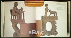 Art Populaire Antique Rare Livre Slovaque Sculpté Coupe En Bois Crpak Artisanat Paysan Berger