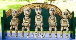 Bali Agung Famille Bali Art Populaire Figures Statue À La Main La Sculpture Sur Bois