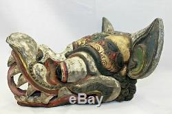 Balinais Vintage Masque Jati Ayu Garuda Aigle Sculpté À La Main Art Populaire Indonésienne De Bali