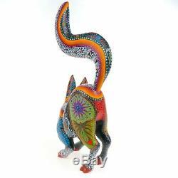 Belle Fox Oaxacan Alebrije Sculpture Sur Bois Fine Mexican Folk Art Sculpture