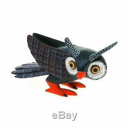 Belle Owl Oaxacan Alebrije Sculpture Sur Bois Fine Mexican Folk Art Sculpture