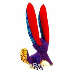 Bleu Lapin Oaxacan Alebrije Sculpture Sur Bois Sculpture Art Populaire Mexicain