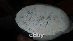Bob Booth Très 1er Kakawis Drake 1988 En Bois Sculpté Folk Art Canard Decoy
