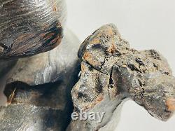 Bois D'art Populaire Vintage Serpent En Bois Sculpté Cobra Dérivant Kansas