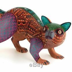 Cat Oaxacan Alebrije Handcrafted Sculpture Sur Bois Art Populaire Mexicain Sculpture