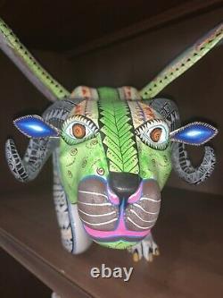 Coco Inspiré À La Main Alebrije Oaxacan Sculpture Sur Bois Art Populaire Peint