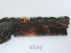 Comb À Cheveux Pliant De Guerrier Aztèque Antiquité Mexicaine Sculptée Et Coupée