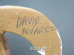 David Alvarez Coyote Wood Sculpture Folk Sculpture Figurine Signée
