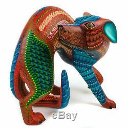Dog Oaxacan Alebrije Sculpture Sur Bois Sculpture Art Populaire Mexicain Par Nestor Melchor