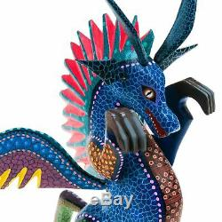 Dragon Oaxacan Alebrije Sculpture Sur Bois Fine Art Populaire Mexicain Sculpture