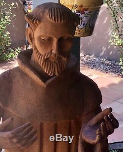 En Bois Sculpté Santo Saint Xxlg 54 Figurine Art Populaire Mexicain