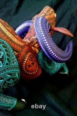Fantastique Alebrije 12 Larg Ram Oaxaca Carving Motion Perfect Painting