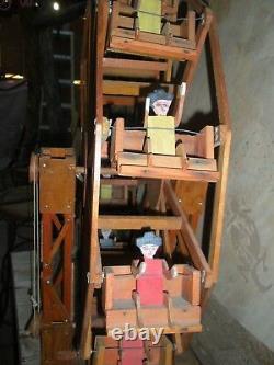 Ferris Roue Jouet Folk Art Bois Sculpture Cirque Décor Mexicain Collection