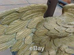 Folk Art Antique Originale Sculptée En Bois Aigle Mur