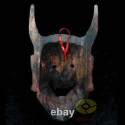 Folk Art Chinois En Bois Sculpté Peint Nuo Masque Walldecor Art Le Juge De L'enfer
