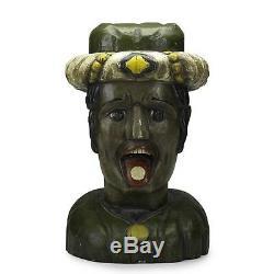 Folk Art Dutch Gaper Pharmacie Sculpture 19 C
