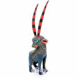 Gazelle Oaxacan Alebrije Sculpture Sur Bois Art Populaire Mexicain Peinture Sculpture