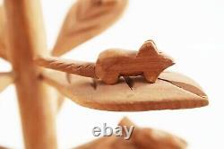 George Lopez Cordova Sculpture Nouveau-mexique Art Populaire Maître D'arbre Animaux Sculpture