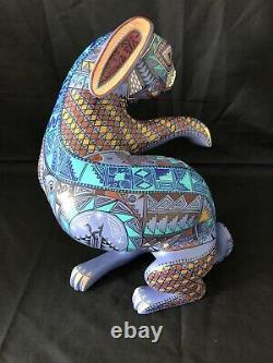 Grand 13 Lapin Sculpté Jacobo & Maria Angeles Oaxaca Mexique Fine Paint Detail