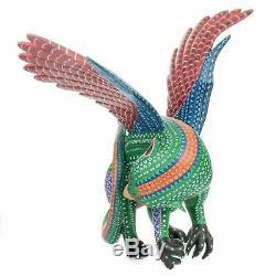 Grand Griffin Bird Oaxacan Alebrije Carving Art Populaire Mexicain Peinture Sculpture