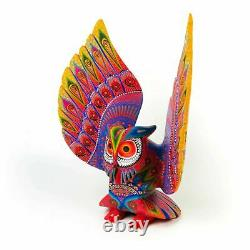 Grand Hibou Oaxacan Alebrije Wood Carving Mexican Art Sculpture Painting Décor
