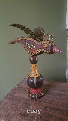 H. Michener Art Populaire Oiseaux Sculpté Et Peint Bucks County Pa