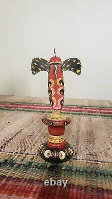 H. Michener Folk Art Sculpté Et Peint Bird Bucks County Pa