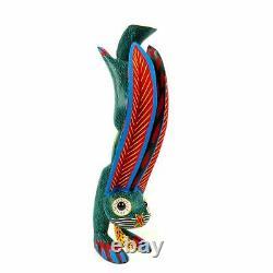 Handstand Lapin Oaxacan Alebrije Sculpture Sur Bois Art Populaire Mexicain Sculpture