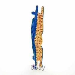 Handstand Rabbit Oaxacan Alebrije Wood Carving Mexican Art Sculpture Painting