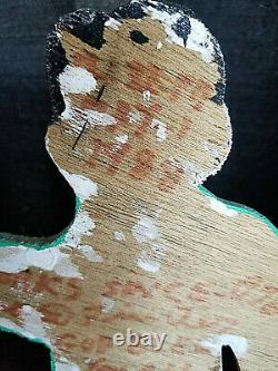 Howard Finster Original Signed Wood Cut Out 1988 Outsider Art, Art Populaire