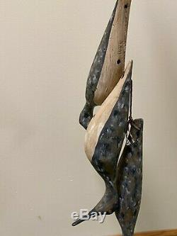 Htf William Kirkpatrick Wek Shorebird Art Populaire En Bois Sculpté Decoy Stringer 3