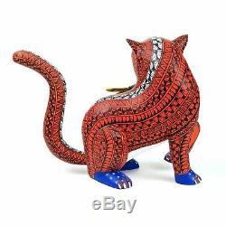 Jaguar & Fish Oaxacan Alebrije Animaux Sculpture Sur Bois Sculpture Art Populaire Mexicain