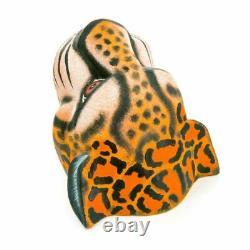 Jaguar Oaxacan Alebrije Wood Carving Mexican Art Sculpture Par Eleazar Morales