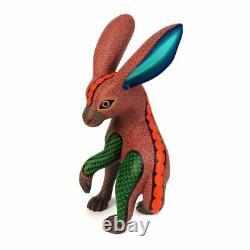 Lapin Oaxacan Alevé Bois Animal Sculpture Mexican Folk Art Sculpture