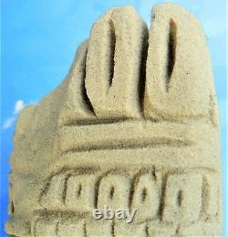 M. Imagination Chicago Afro-am. Folk Visionnaire Dreaming King Sandstone Carving