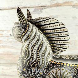 Magia Mexica A1601 Cheval Alebrije Oaxacan Sculpture Sur Bois Peinture Artisanale