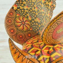 Magia Mexica A1999 Hibou Alebrije Oaxaca Sculpture Sur Bois Artisanat