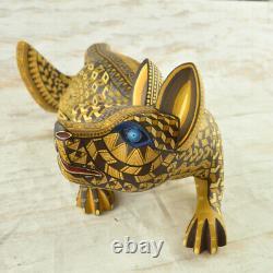 Magia Mexica A2093 Fox Alebrije Oaxaca Sculpture Sur Bois Artisanat