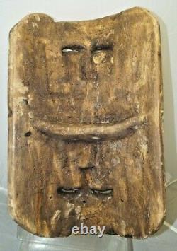 Mexicain 1937 Peint À La Main Sculpté Festival Folk Art Tribal Mask Tourist Piece