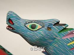 Mexicain Porfirio Sosa Gutierrez Oaxacan Sculpture Sur Bois Sculpture Dragon Folk Art