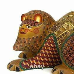 Nahual Oaxaca Alebrije Wood Carving Mexican Folk Art Sculpture Par Nestor Melchor