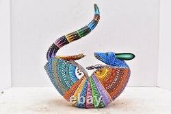 Oaxaca Armadillo Alebrije Sculpture Sur Bois Mexican Folk Art Reny Fuentes Y Reyna 10