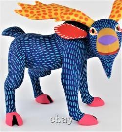 Oaxacan Sculpture Sur Bois Armando Jimenez Blue Moose Oaxaca Art Populaire Mexicain Alebrije