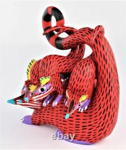 Oaxacan Sculpture Sur Bois Armando Jimenez Possum Oaxaca Art Populaire Mexicain Alebrije