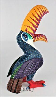 Oaxacan Sculpture Sur Bois Damian Morales Toucan Oiseaux Oaxaca Art Populaire Mexicain Alebrije